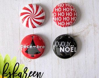 """Badge 1"""" - Ho Ho Ho"""