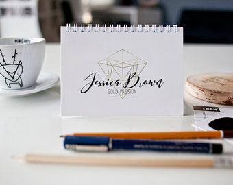 Business logo, Graphic Design, Geometric logo, Faux Gold,  Business Branding, Ready made logo, Watermark, Premade logo, Logo design