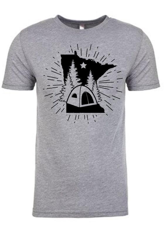 Minnesota Camping T-Shirt - Unisex TriBlend Short Sleeve Tee