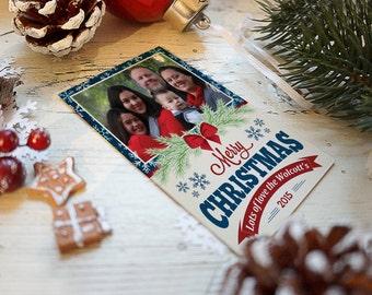 Christmas Cards, Americana Cards, Holiday Cards, Christmas Greetings, Greeting Cards, Photo Christmas Card