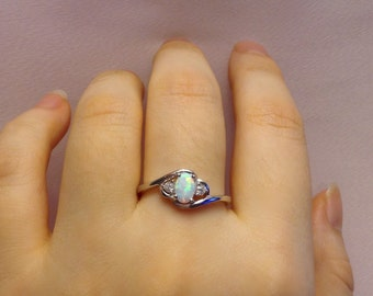 Opal Ring | Ring | Sterling Silver Opal Ring | Silver Rings For Women | Fashion Rings | Valentine Day Gift Ring | Size 5 6 7 8 9