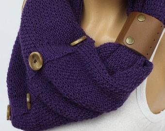 Scarf Knit Infinity Scarf, Womens Knit Winter Scarves, Womens Knit Infinity Scarf, Knit Scarves, Knit Infinity