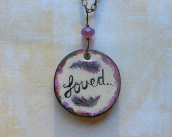 Loved Pendant with Feathers