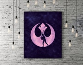Star Wars Rebel Alliance, Star Wars Lightsaber Luke Skywalker, Return Of The Jedi, Outer Space Print, Space Art Movie Art Print Illustration