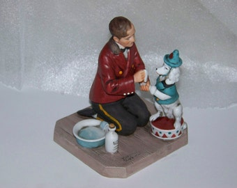 """Norman Rockwell Figurine """"While the Audience Waits"""" 1981 with Box"""