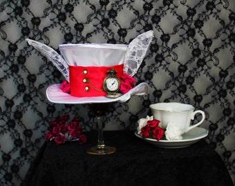 The White Rabbit - Alice in Wonderland - Mini Top Hat