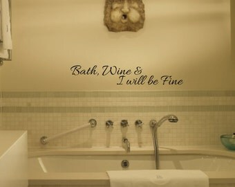 bathroom wall decals  etsy, Bathroom decor