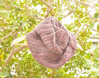 Imperfect Sale, Crochet Scarf, Infinity Scarf, Crochet Infinity Scarf, Plum and Grey Scarf, Winter Scarf, Grey Crochet Scarf, Plum