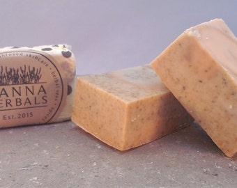 Frankincense and Myrrh Soap - 4 ounce bar - exotic woodsy bar soap - Christmas soap - salt bar soap