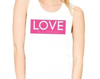Vegan 'Love All Beings' Muscle Tank