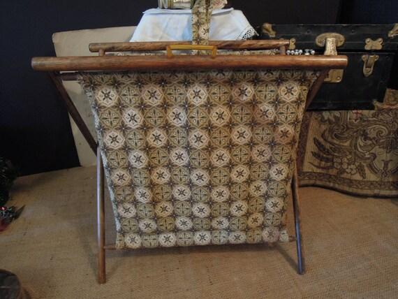 Vintage Folding Knitting Basket : Vintage folding knitting basket by