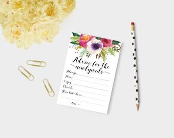 Newlywed advice, advice for newlyweds, marriage advice cards, wedding games, bridal shower advice, advice cards, wedding advice cards,
