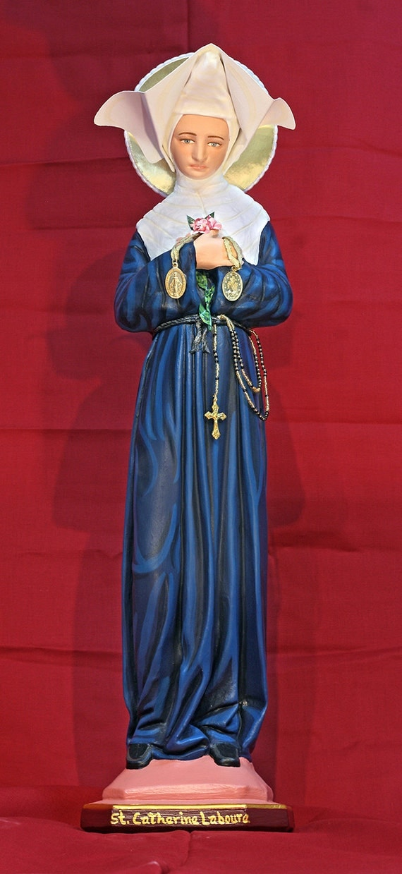 "St. Catherine Laboure 24"" Catholic Christian Saints Plaster Religious Statue"