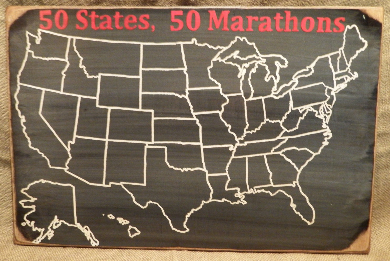 Marathon Map Travel Map 50 States Us Map United States
