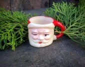 Vintage Winking Santa Cup Miniature Toy Cup