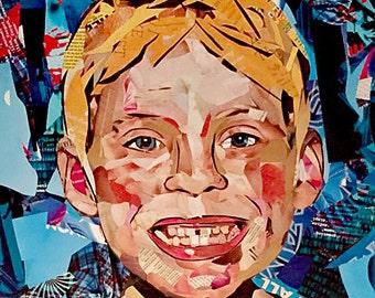 18X24 custom magazine collage portrait