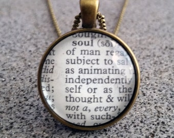 """Word Pendant and Chain """"Soul"""""""