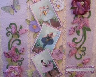 Sweet Lilac Fairies Shadow Box #126