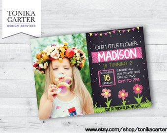 Pink Flower Birthday Invitation (with picture)
