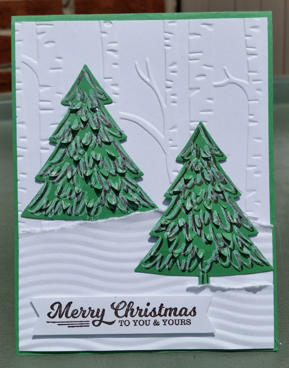 STAMPIN' UP Handmade CHRISTMAS Card Kit Set of 4 by decamerax3