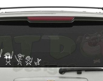 Pirate Family Removable Car, Wall, or Laptop Decal