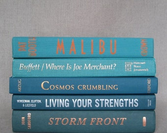 Shades of Blue Bundle, Decorative Book Set