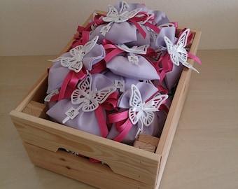 Set of 20 lilac-Bag wedding favors