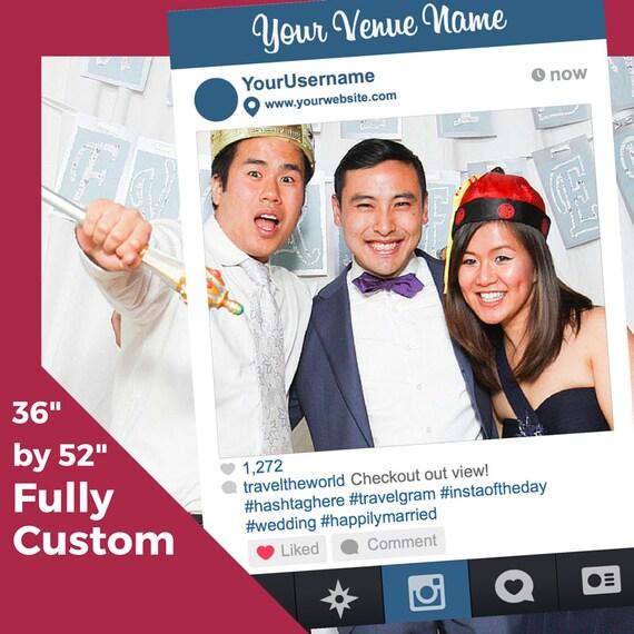 st patrick s day custom instagram like photobooth frame