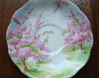 Blossom Time - Saucer - Royal Albert Bone China England - Scenic - Trees with Pink Apple Blossoms - Starter or Replacement Pieces