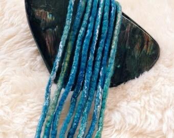 Wool Dreadlocks   Blue Dreadlocks   Turquoise Dreadlocks   DE Dreadlocks   Wool Dreads   Mermaid Hair    Dreadlock Extensions