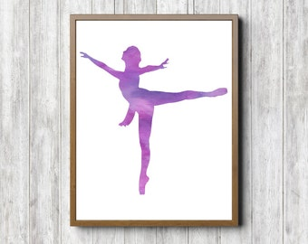 Ballerina Wall Art ballerina wall decor | etsy
