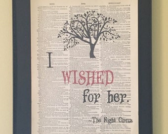 I wished for her - Night Circus Page Art