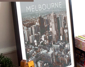 Melbourne, Victoria, Australia Poster 11x17 18x24 24x36