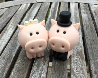 Pig Wedding Cake Topper