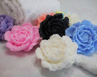 Peony Soap Favors (10 pk) - Bridal Shower - Wedding Soap Favor - Baby Shower Favor - Decorative Floral Peony Flower - Birthday Party Favor