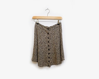 90's Button Front Swing Skirt
