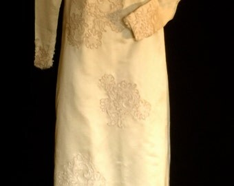 Unique 60's Mod-Asian Style Wedding Gown        VG160
