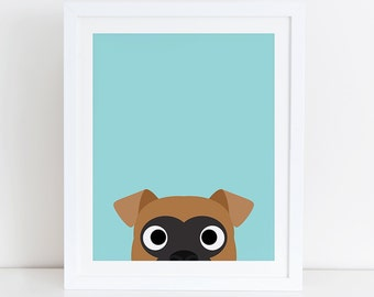 Boxer Art Print, Boxer Printable,  Instant Download, Printable Dog, Digital Art Print, Boxer Lovers Print, Boxer Print, Boxer Decor, Dog Art