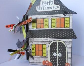 Halloween Scrapbook Album Haunted House Album Mini Album