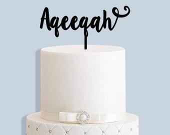Aqeeqah Cake Topper
