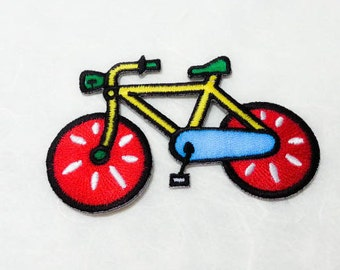 Bicycle Iron on Patch( L) - Bicycle Applique Embroidered Iron on Patch-Size 8.7x5.6cm
