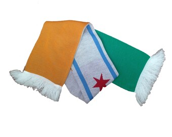 Chicago Flag x Ireland Flag Winter Scarf