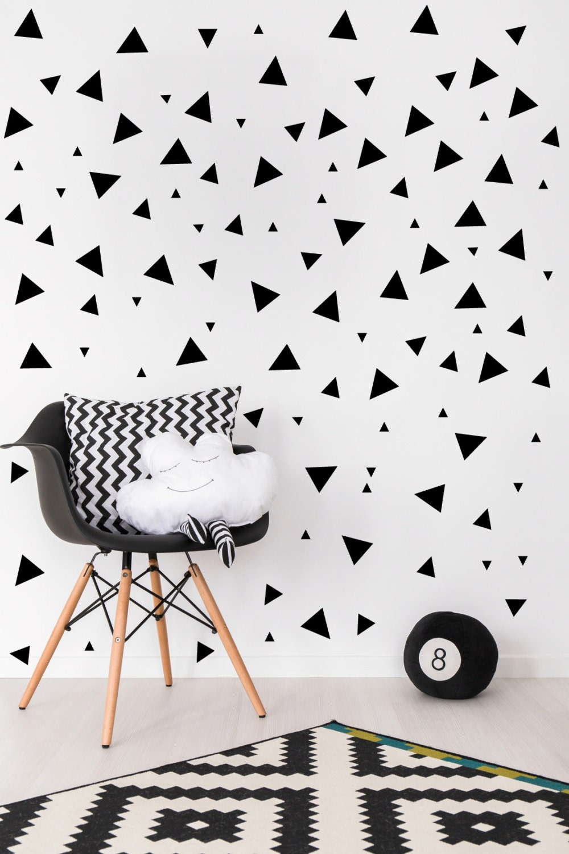 Black Triangle Wall Decals Baby Nursery Black Vinyl Wall Decal