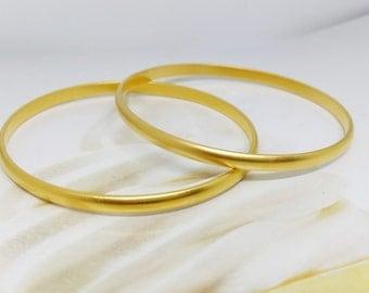 Bangle bracelet, Gold bangle bracelet, couple gold bangles, Bangle bracelet, Couple bangle bracelets, Moroccan, Matte gold bangle