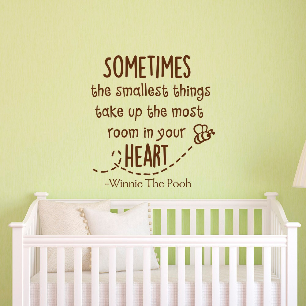 Winnie The Pooh Quotes Sometimes The Smallest Things: Wall Decal Winnie The Pooh Quote Sometimes The Smallest Things