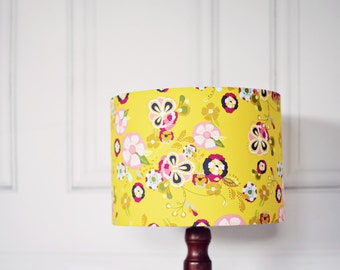 Yellow Lamp Shade Bedroom Dcor Light Shades Floral Living