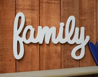 Family Sign, Home Decor - Wooden Family sign