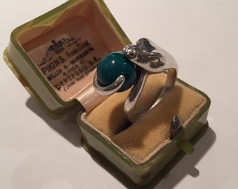 Vintage Silver Snake ring, Rare piece