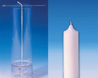 Pillar Candle Mold, Clear. Polycarbonate Candlemaking Mold, Seamless. Transparent Plastic Candle Making Molds.