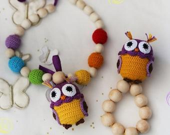Nursing necklace Teething toy Rattle Baby Shower gift Gift for baby Teething necklace Baby rattle Teether Teething Baby gift Baby toy